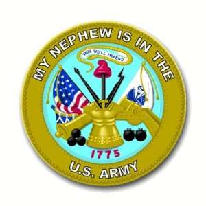States Army My Nephew is in the Army Seal Decal Sticker 3.8 6 pack