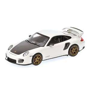 2010 Porsche 911 (997 II) GT2 RS White With Gold Wheels 1
