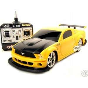 DUB City R/C Ford Mustang GT R Yellow 1/16 Toys & Games