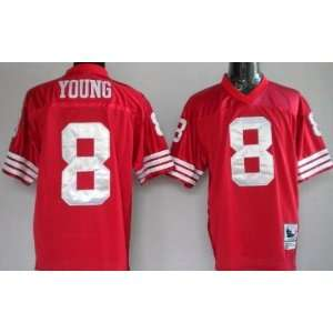 Steve Young #8 San Francisco 49ers Replica Throwback NFL