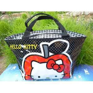 Sanrio Hello Kitty (Large Apple) Black Lunch Bag Bonnie Bell Smackers