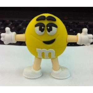 4GB Cool New M&M Style USB flash drive(yellow)