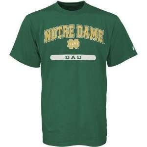 Russell Notre Dame Fighting Irish Green Dad T shirt