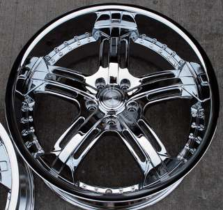 RVM 503 20 CHROME RIMS WHEELS NISSAN 350Z STAGGERED