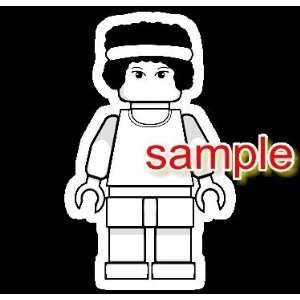 LEGO BASKETBALL GIRL WHITE VINYL DECAL STICKER