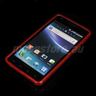 SOFT TPU GEL CASE COVER SAMSUNG INFUSE 4G I997 RED