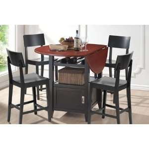 RT189 Dayton 5 Pcs Modern Drop Leaf Pub Table Dining