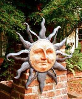 SPI Rising Sun Face Wall Plaque Garden Art Sculpture