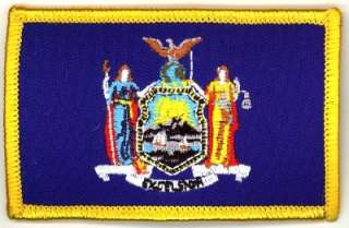 New York STATE Flag Iron on Patch Embroidery NY