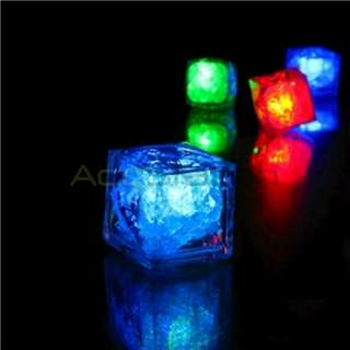 MULTI LED COLOR CHANGING FLASH LIGHT ICE CRYSTAL CUBE