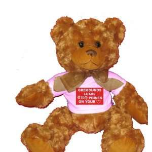 GREYHOUNDS LEAVE PAW PRINTS ON YOUR HEART Plush Teddy Bear