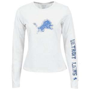 Reebok Detroit Lions Ladies White Giant Logo Too Long