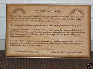 Rainbow Bridge Poem In Loving Memory Pet Memorial