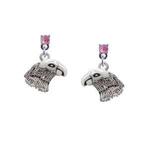Light Pink Swarovski Post Charm Earrings (Left or Right) Jewelry