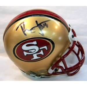 Ronnie Lott Autographed Mini Helmet   Replica Sports