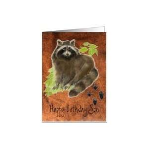 Birthday Son, Raccoon Animal Card Card Toys & Games