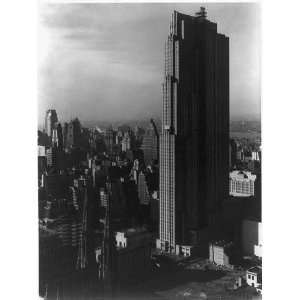 New York City,RCA,GE Building nearing completion,1936
