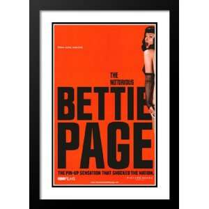The Notorious Bettie Page 20x26 Framed and Double Matted