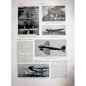 Aviation German Sea Plane Heinkel Twin Engine 1937