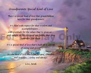 Personalized Poem for Grandparents Gift Keepsake