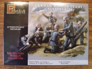 72 WWII GERMAN MORTAR TEAMS GRANATWERFER #7204 23 FIGS/5 MORTARS/RADIO
