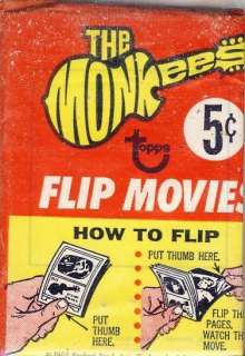 TOPPS MONKEES FLIP MOVIES UNOPENED TRADING CARD PACK