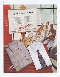 1952 VINTAGE AD   MANHATTAN SHIRTS MENS CLOTHING 11 8