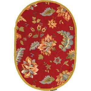 Safavieh HK306C Chelsea Collection Hand Hooked Red Wool