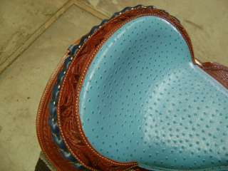 ULTIMATE 15 TURQUOISE WESTERN BARREL RACER SHOW SADDLE