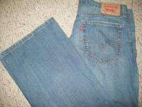 LEVIS 567 Loose Boot Cut Denim Jeans Mens 34 x 34