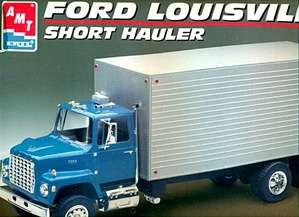 1969 old stock vintage semi truck AMT Ford Louisville Short Hauler
