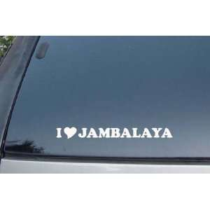 I Love Jambalaya Vinyl Decal Stickers