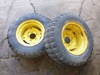 1968 John Deere 110 Tractor Firestone 23x8.50 12 Rear Tires & Rims