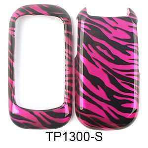 PHONE CASE COVER FOR KYOCERA LUNO S2100 TRANS HOT PINK ZEBRA PRINT