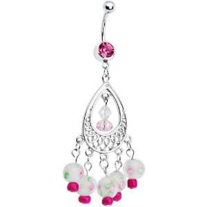 Pink Gem Katya Chandelier Belly Ring Jewelry