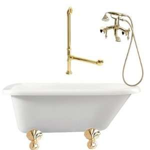 Giagni LA1  Augusta 54 Roll Top Tub with Wall Mount Faucet Faucet