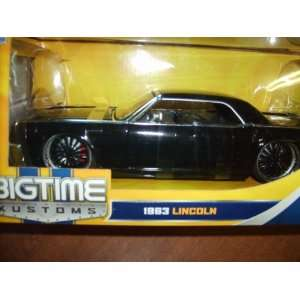 Jada BIG Time Kustoms 124 Scale Black 1963 Lincoln Toys
