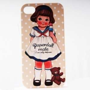 Wheat Dot Bear Painting Vintage Pinup Girl iPhone 4/4S