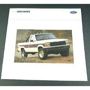 1990 90 Ford RANGER Pickup Truck BROCHURE STX Custom