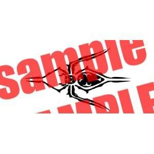 SPIDER TRIBAL WHITE VINYL DECAL STICKER