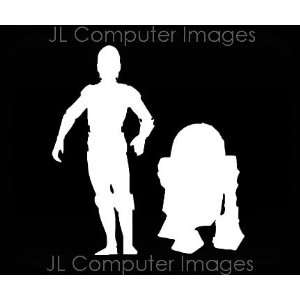 STAR WARS BOTS WHITE DECAL 6 X 5