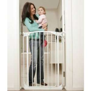 Dream Baby L782W Extra Tall Swing Closed Safety Gate in White Baby
