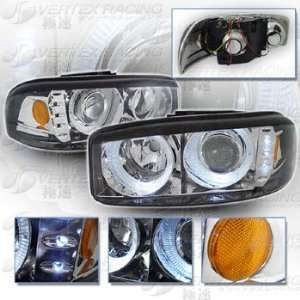 99 06 GMC YUKON DENALI SIERRA Dual Halo Projector Headlights   Chrome