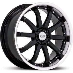 RUFF RACING WHE R390 BLACK/MACHINED 4X100/4X4.5 +40   18X8