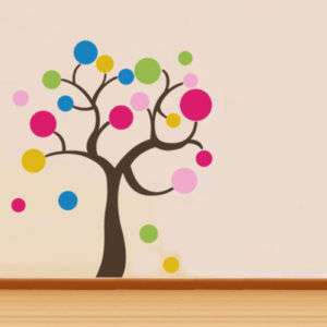 POLKA DOT TREE   Removable Wall Sticker Kids Wall Art