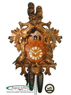 Black Forest Cuckoo Clock 8 Day Owl Clock 16.1 NEW