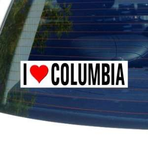 I Love Heart COLUMBIA   South Carolina Window Bumper