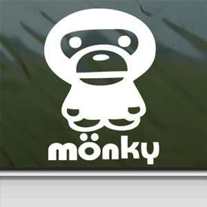 Anime Monkey Cartoon White Sticker Car Vinyl Window Laptop