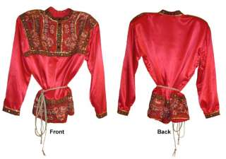 RUSSIAN TRADITIONAL MEN FESTIVE RED SHIRT