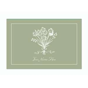 Personalized Stationery Note Cards with Bouquet   Willow